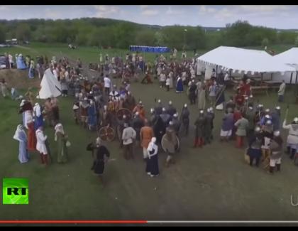 VIDEO – Il abat un drone avec une lance !