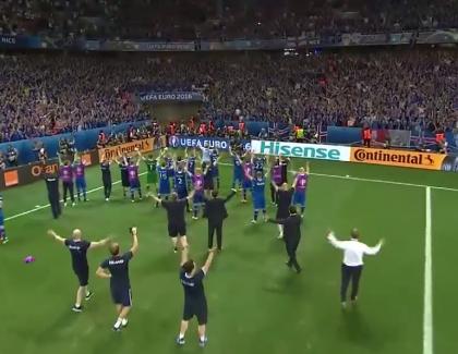 VIDEO – Les Islandais fêtent la qualification avec leur public