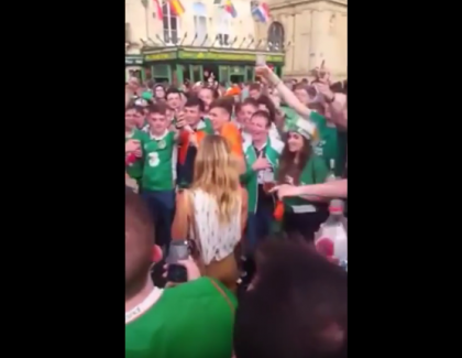 VIDEO – Une Bordelaise devient la coqueluche des supporters irlandais !