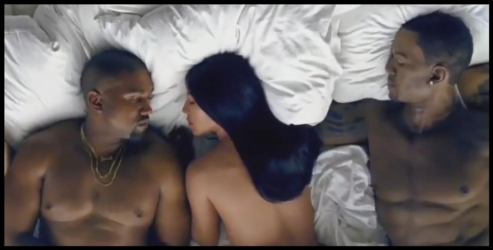 VIDEO – Tout le monde à poil dans le dernier clip de Kanye West !