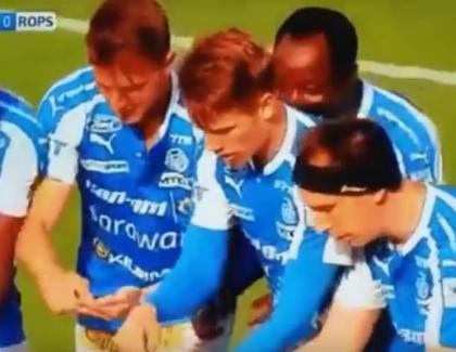 VIDEO – Des joueurs finlandais fêtent un but et rendent hommage à Pokemon Go !
