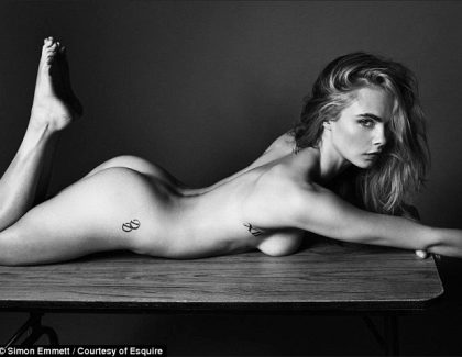 PHOTO – Cara Delevingne pose totalement nue !